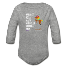 Load image into Gallery viewer, THE LEGACY CONTINUES Organic Long Sleeve Baby Bodysuit - heather gray