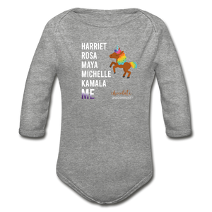 THE LEGACY CONTINUES Organic Long Sleeve Baby Bodysuit - heather gray