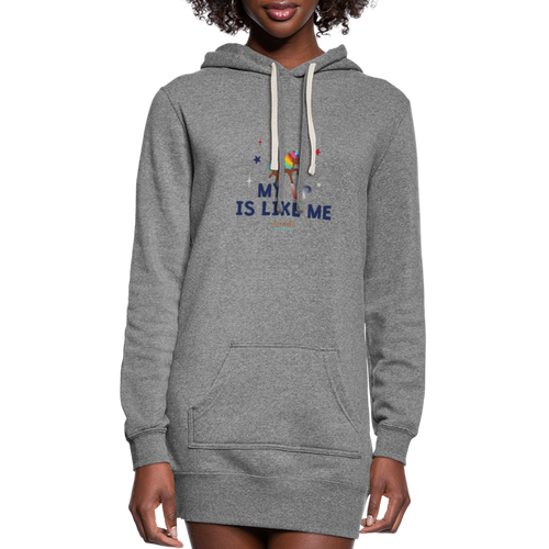MY VP IS LIKE ME Women's Hoodie Dress - heather gray