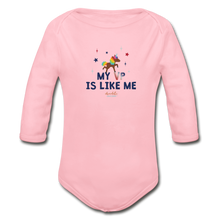 Load image into Gallery viewer, MY VP IS LIKE ME Organic Long Sleeve Baby Bodysuit - light pink