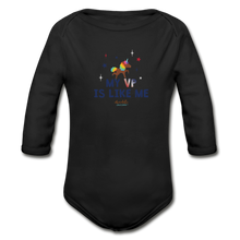Load image into Gallery viewer, MY VP IS LIKE ME Organic Long Sleeve Baby Bodysuit - black
