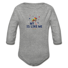 Load image into Gallery viewer, MY VP IS LIKE ME Organic Long Sleeve Baby Bodysuit - heather gray
