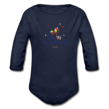Load image into Gallery viewer, MY VP IS LIKE ME Organic Long Sleeve Baby Bodysuit - dark navy