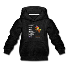 Load image into Gallery viewer, Chocolate Unicorn THE LEGACY CONTINUES Kids' Premium Hoodie - charcoal gray