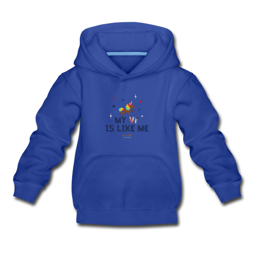 MY VP IS LIKE ME Kids' Premium Hoodie - royal blue