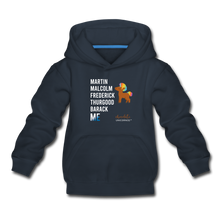 Load image into Gallery viewer, Chocolate Unicorn (Male) LEGACY Kids' Premium Hoodie - navy