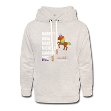 Load image into Gallery viewer, The LEGACY Continues Shawl Collar Hoodie - heather oatmeal