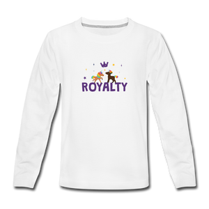 WE ARE ROYALTY Kids' Premium Long Sleeve T-Shirt - white