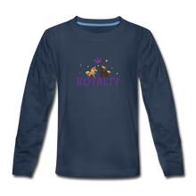 Load image into Gallery viewer, WE ARE ROYALTY Kids' Premium Long Sleeve T-Shirt - navy