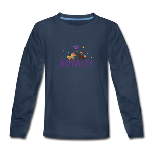 WE ARE ROYALTY Kids' Premium Long Sleeve T-Shirt - navy