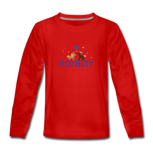 WE ARE ROYALTY Kids' Premium Long Sleeve T-Shirt - red