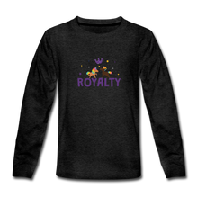 Load image into Gallery viewer, WE ARE ROYALTY Kids' Premium Long Sleeve T-Shirt - charcoal gray