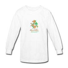 Load image into Gallery viewer, Chocolate Dragon Long Sleeve T-Shirt - white
