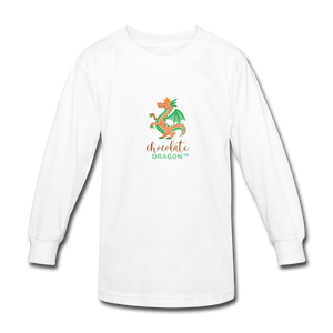 Chocolate Dragon Long Sleeve T-Shirt - white