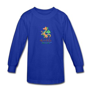 Chocolate Dragon Long Sleeve T-Shirt - royal blue