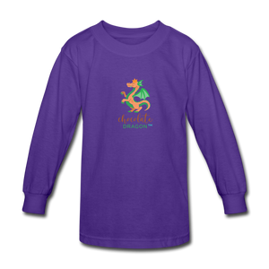 Chocolate Dragon Long Sleeve T-Shirt - dark purple