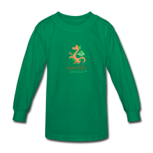 Load image into Gallery viewer, Chocolate Dragon Long Sleeve T-Shirt - kelly green