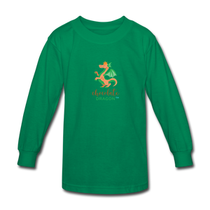 Chocolate Dragon Long Sleeve T-Shirt - kelly green
