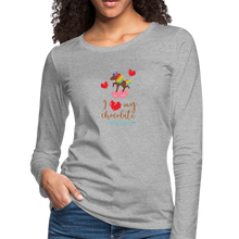 Load image into Gallery viewer, My LOVE Women's Premium Long Sleeve T-Shirt - heather gray