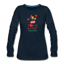 Load image into Gallery viewer, My LOVE Women's Premium Long Sleeve T-Shirt - deep navy