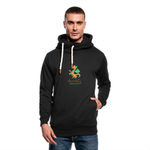 Load image into Gallery viewer, Chocolate Dragon Shawl Collar Hoodie - black