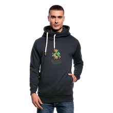 Load image into Gallery viewer, Chocolate Dragon Shawl Collar Hoodie - navy