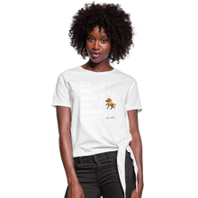 Load image into Gallery viewer, The ARTISTIC Trailblazer BHM Collection Women's Knotted T-Shirt - white