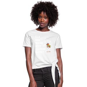 The ARTISTIC Trailblazer BHM Collection Women's Knotted T-Shirt - white