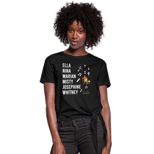 Load image into Gallery viewer, The ARTISTIC Trailblazer BHM Collection Women's Knotted T-Shirt - black