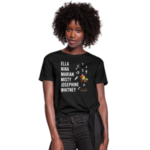 The ARTISTIC Trailblazer BHM Collection Women's Knotted T-Shirt - black