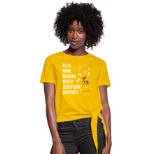 Load image into Gallery viewer, The ARTISTIC Trailblazer BHM Collection Women's Knotted T-Shirt - sun yellow