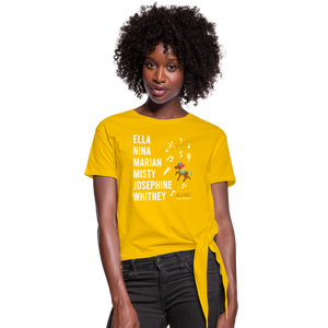 The ARTISTIC Trailblazer BHM Collection Women's Knotted T-Shirt - sun yellow