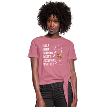Load image into Gallery viewer, The ARTISTIC Trailblazer BHM Collection Women's Knotted T-Shirt - mauve