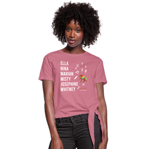 The ARTISTIC Trailblazer BHM Collection Women's Knotted T-Shirt - mauve