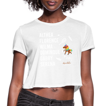 Load image into Gallery viewer, The ATHLETE Trailblazers BHM Collection Women's Cropped T-Shirt - white