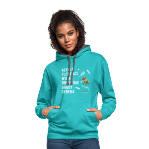 The ATHLETE Trailblazers BLM Collection Contrast Hoodie - scuba blue/asphalt