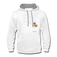 Load image into Gallery viewer, The ATHLETE Trailblazers BLM Collection Contrast Hoodie - white/gray