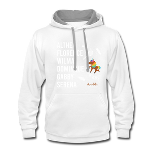 The ATHLETE Trailblazers BLM Collection Contrast Hoodie - white/gray