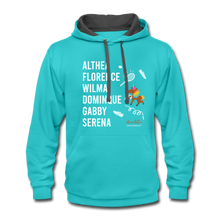 Load image into Gallery viewer, The ATHLETE Trailblazers BLM Collection Contrast Hoodie - scuba blue/asphalt