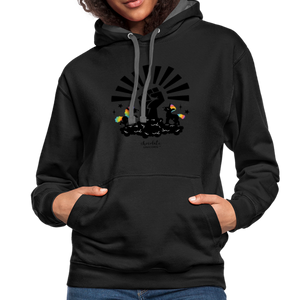 BHM Signature Collection Contrast Hoodie - black/asphalt