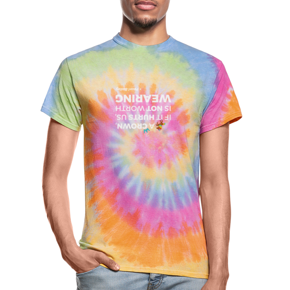 A Crown Unisex Tie Dye T-Shirt - rainbow