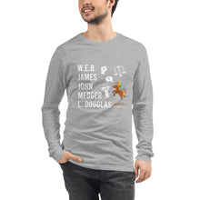 Load image into Gallery viewer, The Male POLITICAL Trailblazers (Unicorn) Unisex Long Sleeve Tee