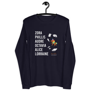 The LITERARY Trailblazers (Unicorn) Unisex Long Sleeve Tee