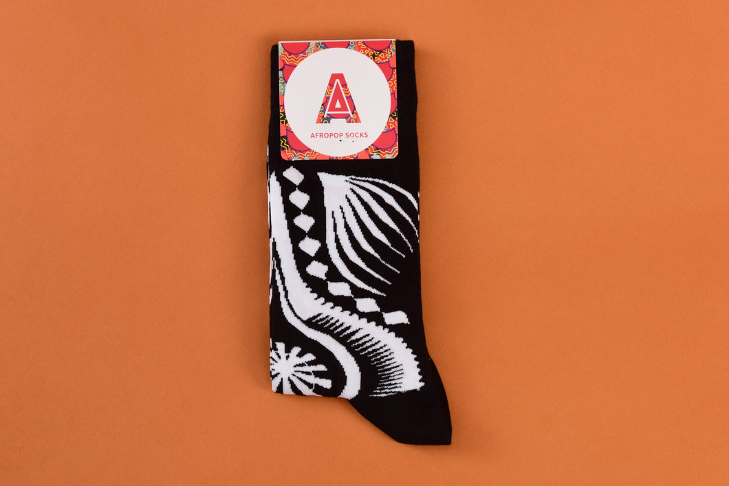 Dashiki Socks  (Black)