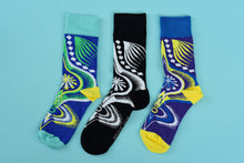 Load image into Gallery viewer, Dashiki Socks  (Black)