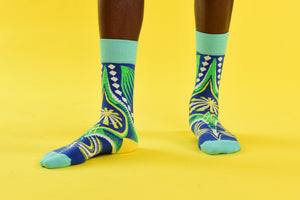 Dashiki Socks Blue