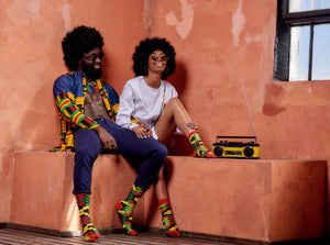 His 'n' Hers Zion Socks for Men and Women (African Socks)