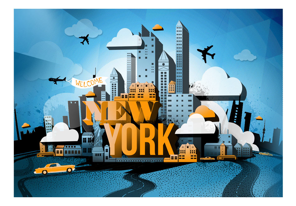 Fototapet - New York - welcome