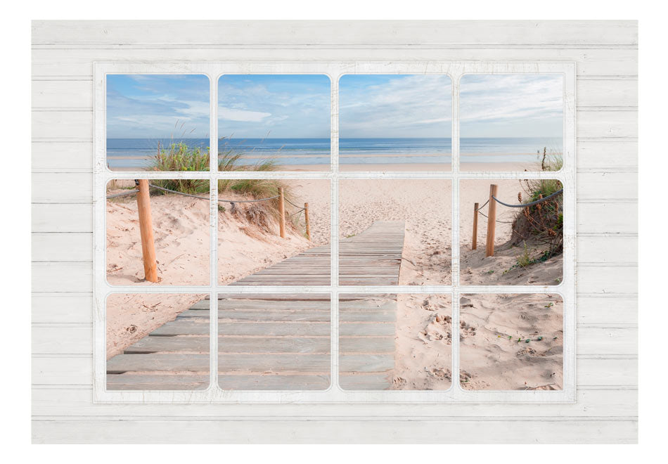 Fototapet - Window & beach