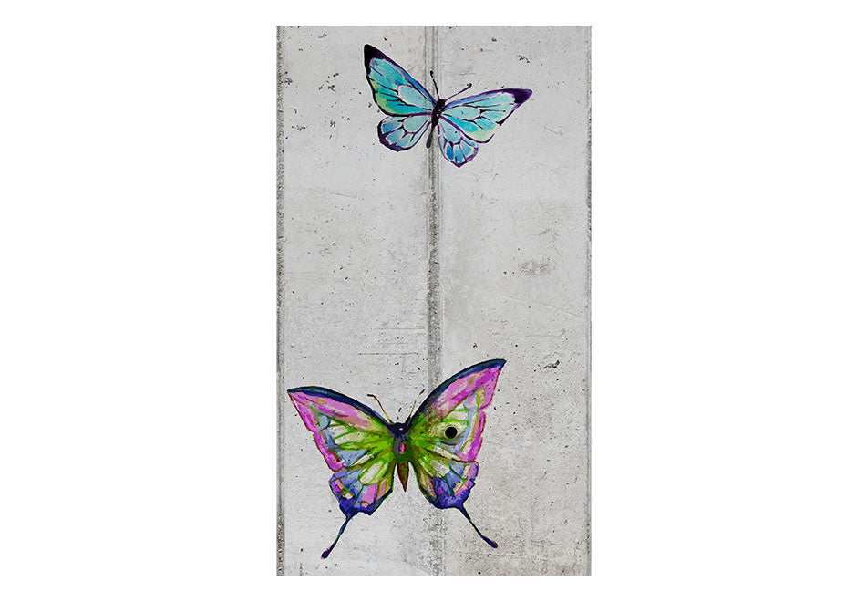 Fototapet - Butterflies and Concrete